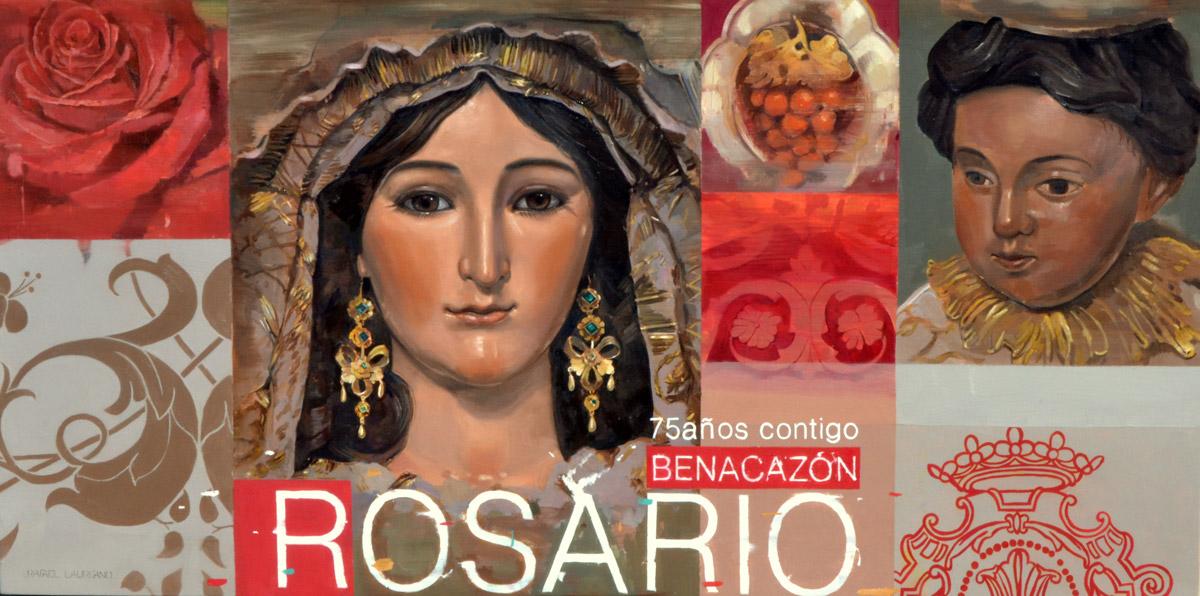 Cartel del 75 aniversario de la Virgen del Rosario de Benacazón