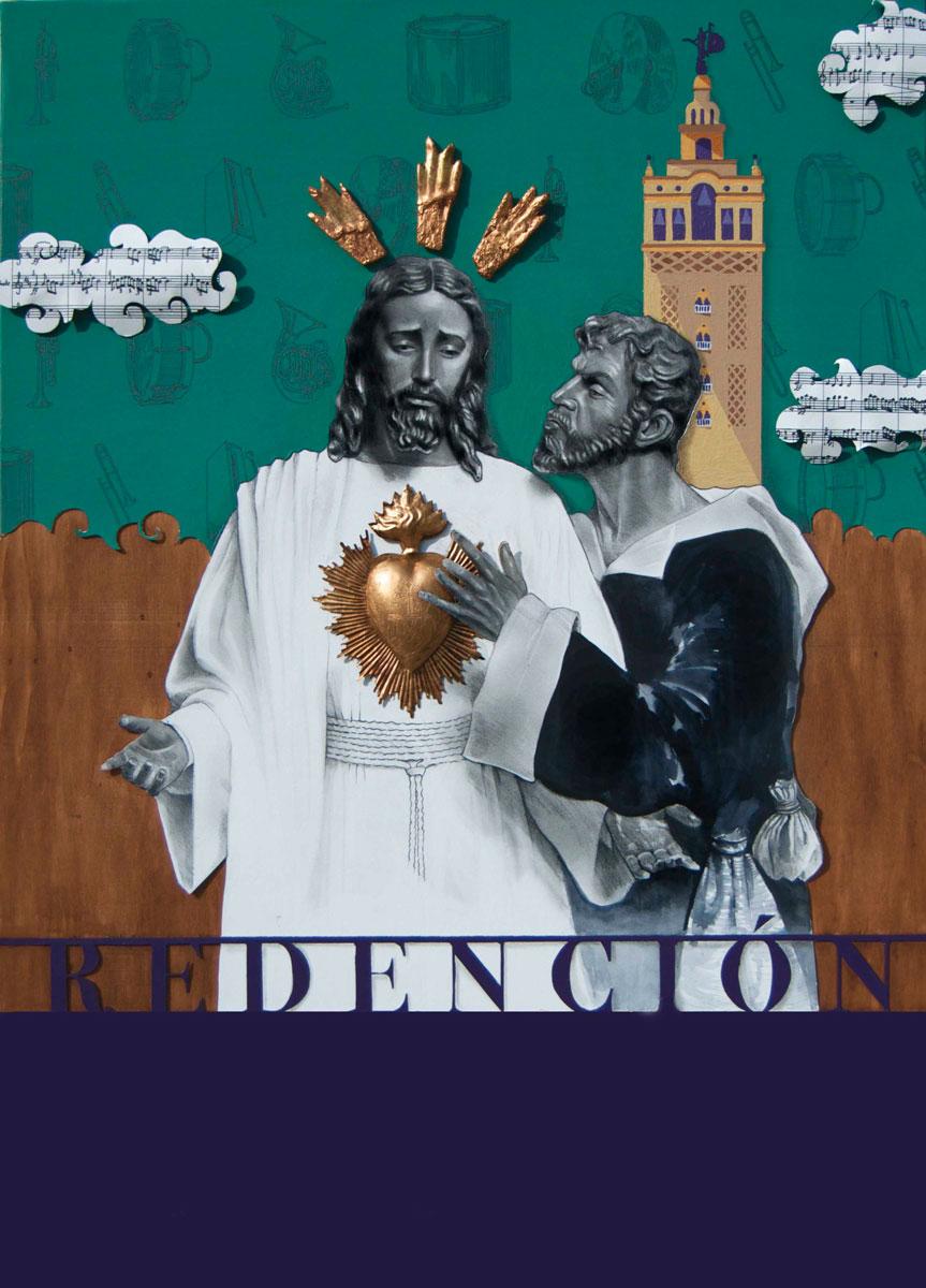 Cartel Cuadragésimo Aniversario A.M. Redención