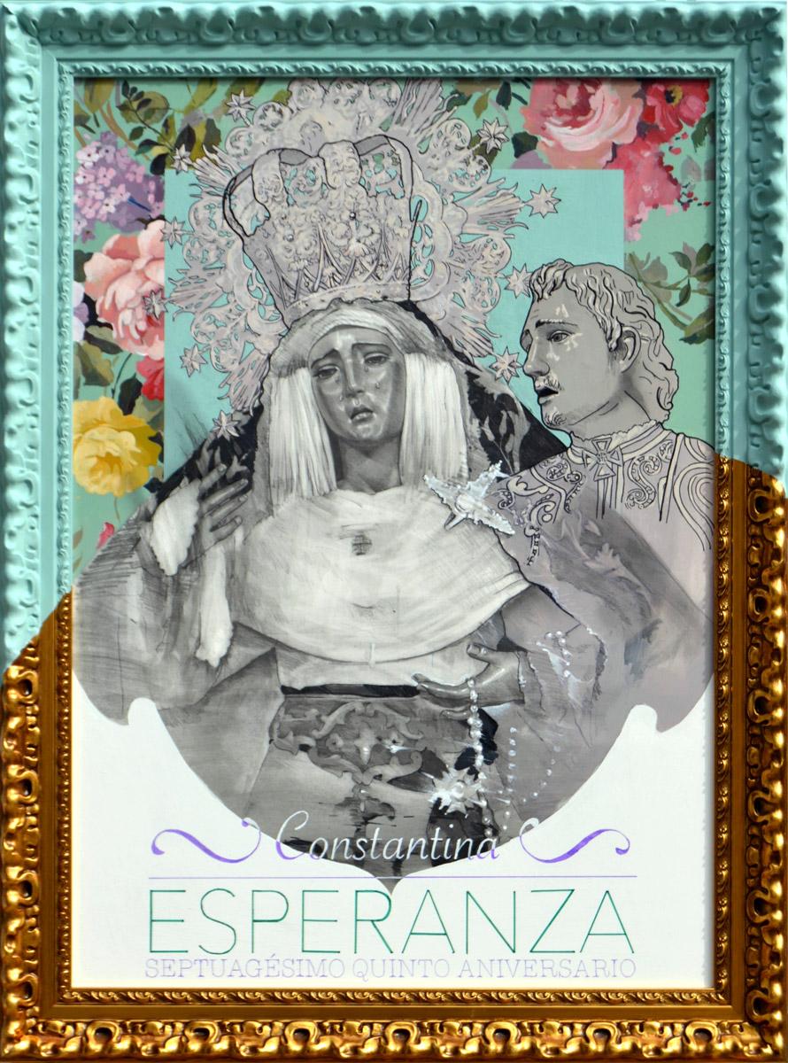 Cartel del 75 aniversario de la Esperanza de Constantina