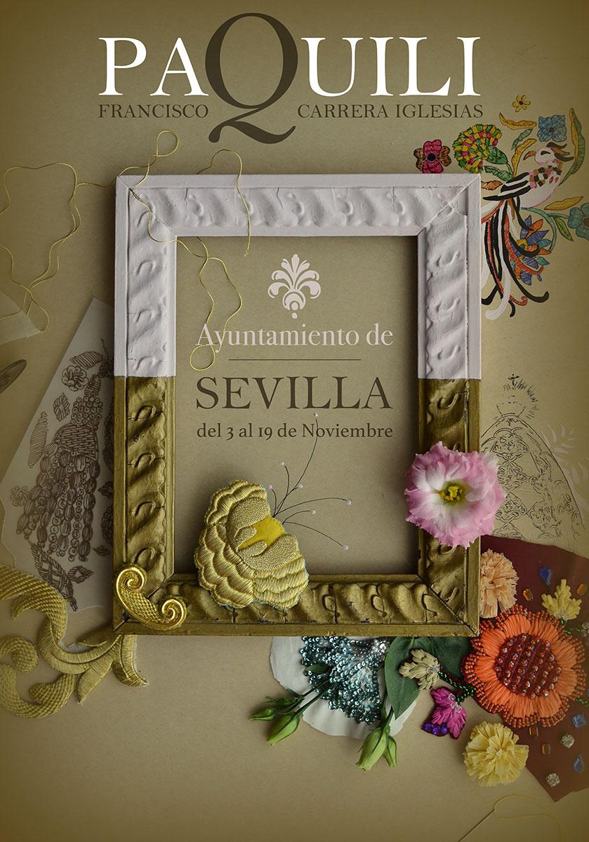 Cartel para exposición de Paquili en Sevilla